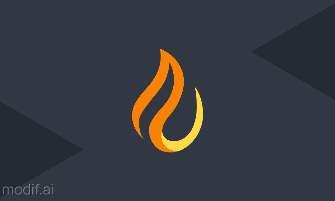 Fiery Business Card Back Design Template