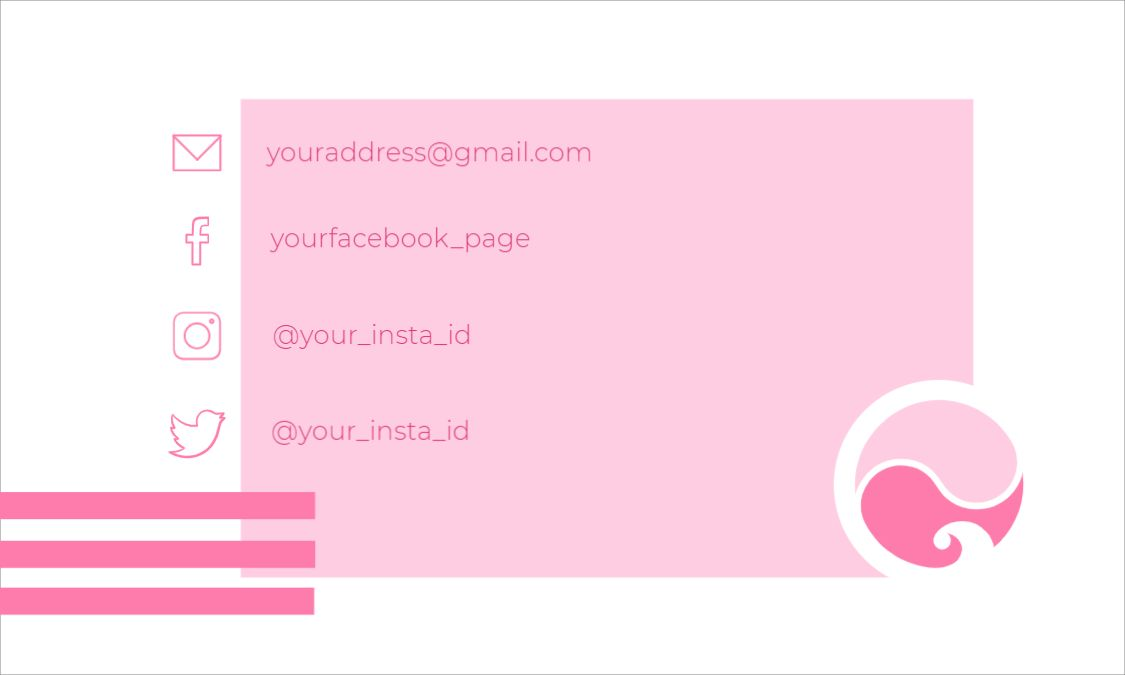 Simple Business Card Back Design Template
