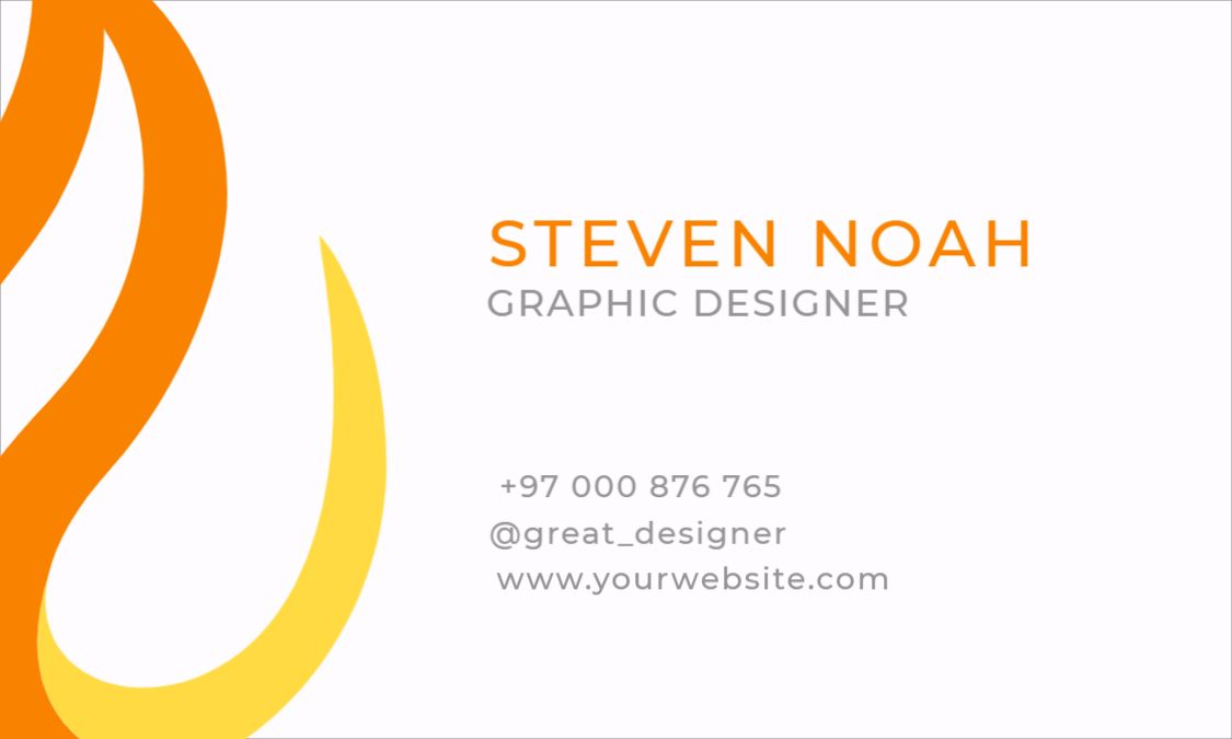 Fiery Business Card Front Design Template