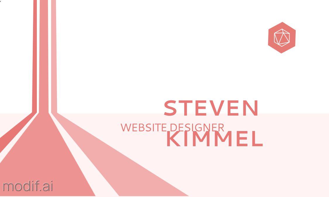 3D Design Business Card Front Template