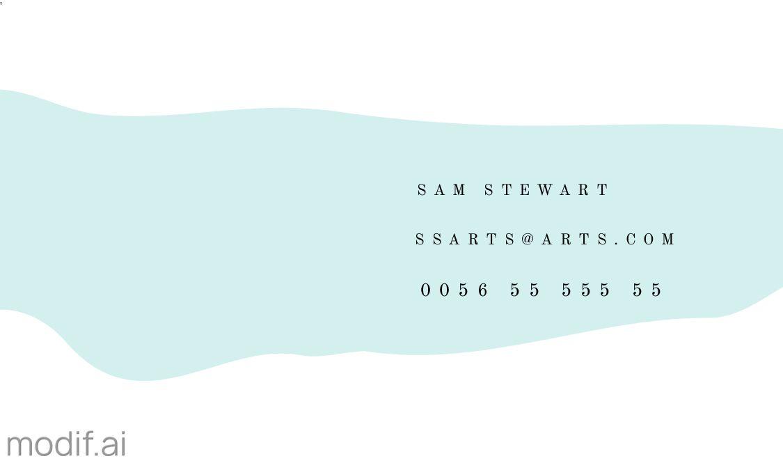 Brush Stroke Back Business Card Template