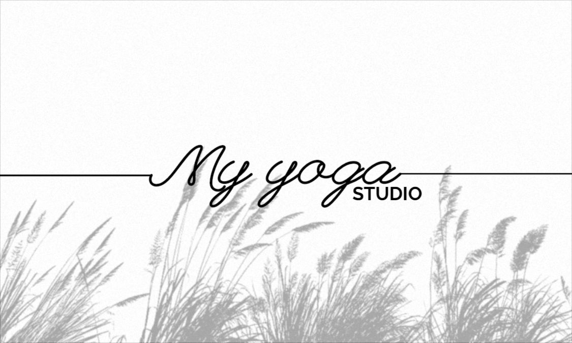 Yoga minimalist Front Business Card Template