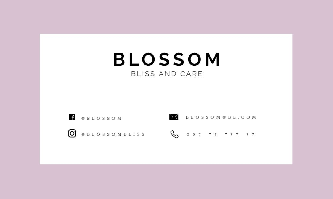 Blossom Back Business Card Template