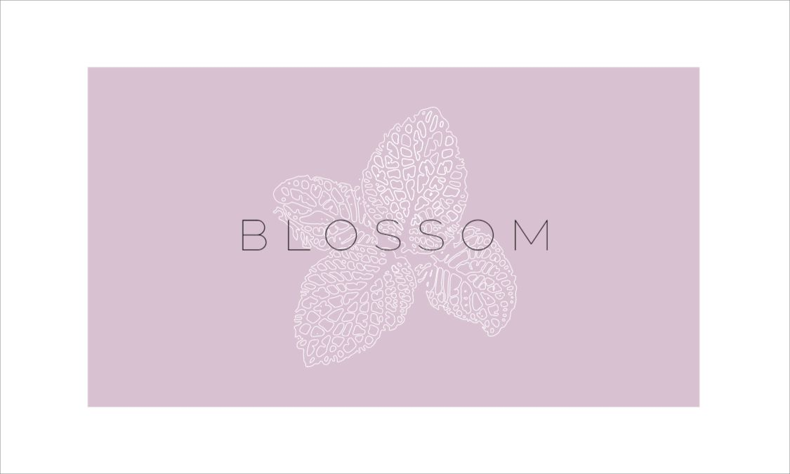 Blossom Front Business Card Template