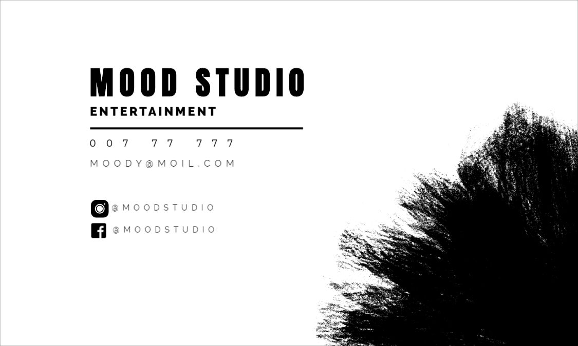 Moody Back Business Card Template