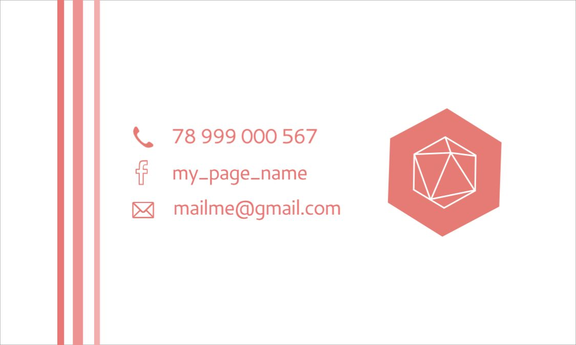 3D Design Business Card Back Template