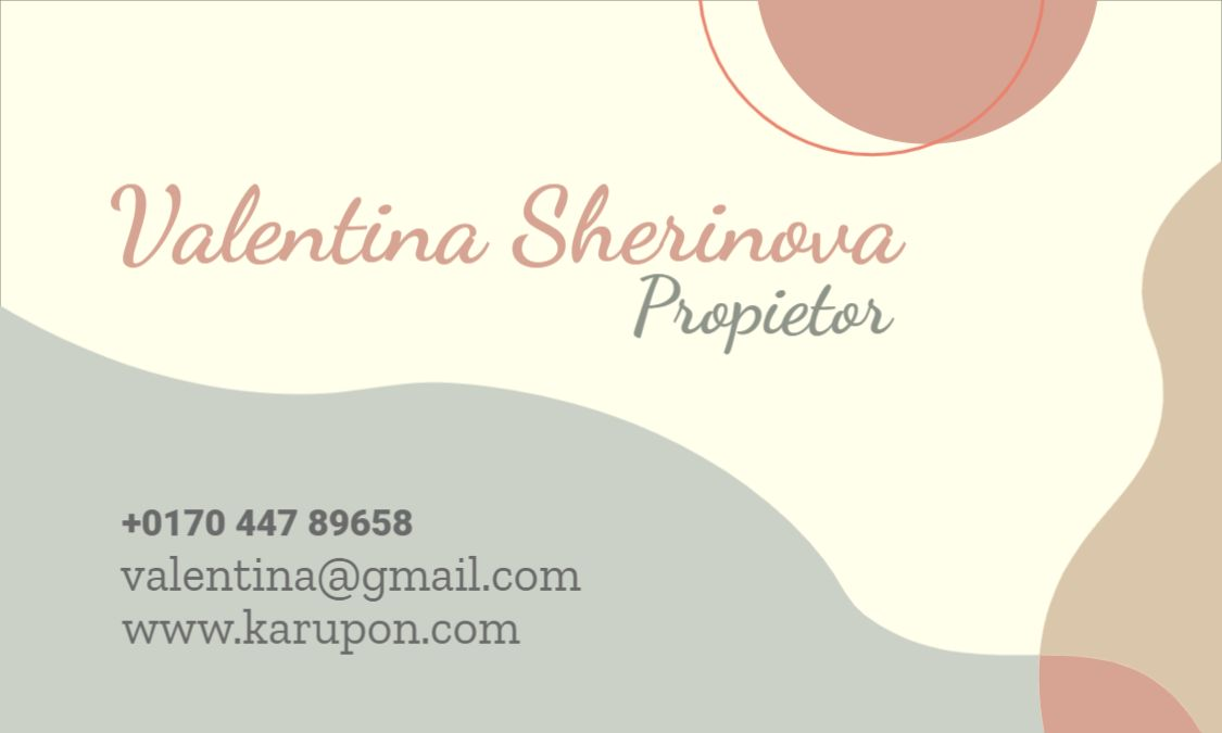 Minimal Design Business Card Front Template