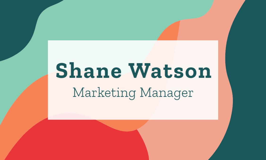 Marketing Themed Business Card Front Template