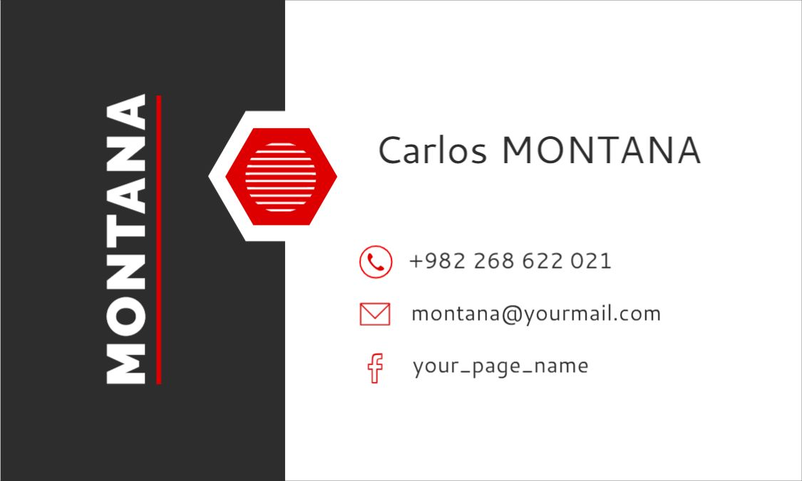 Black and White Themed Business Card From Template