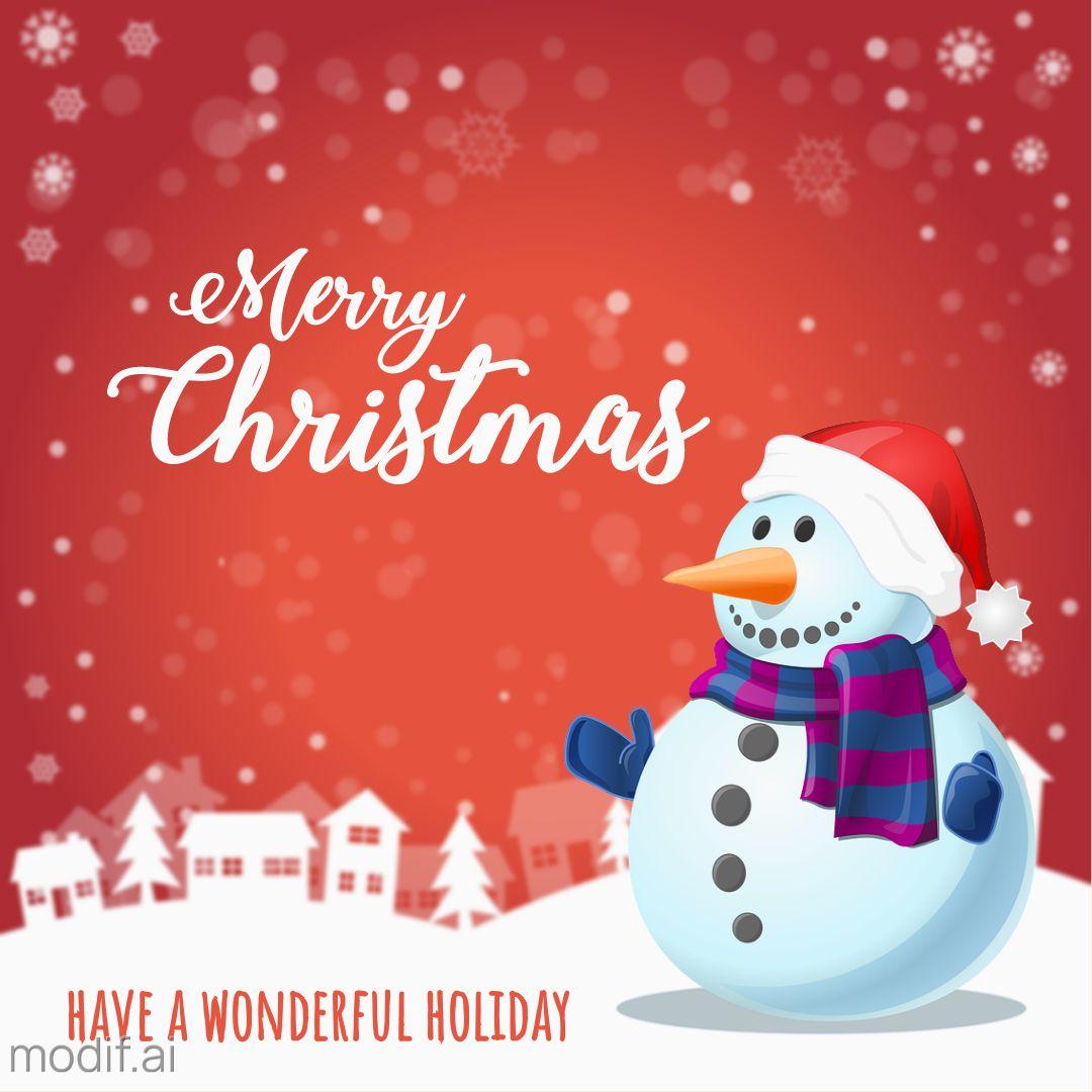 Snowman Christmas Greetings Instagram Template