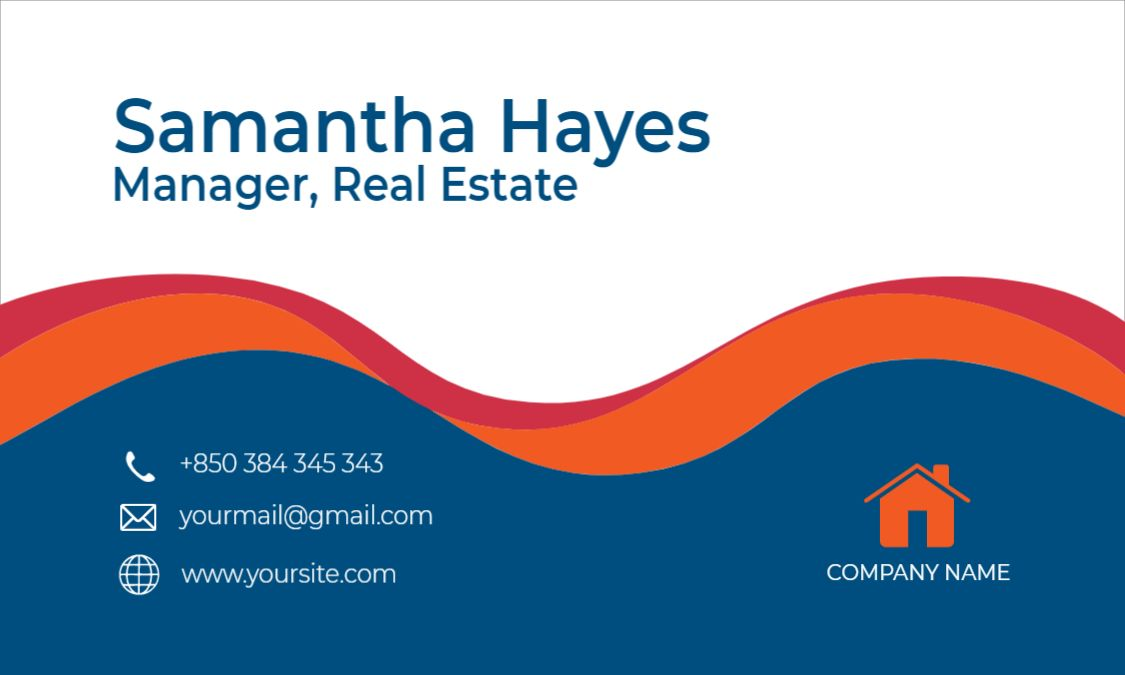 Real Estate Themed Business Card Design Front