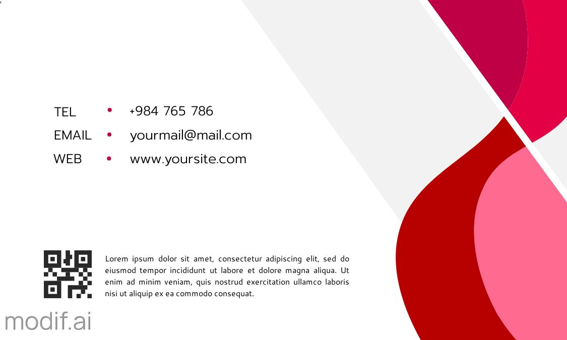 Curved Themed Business Card Design Back
