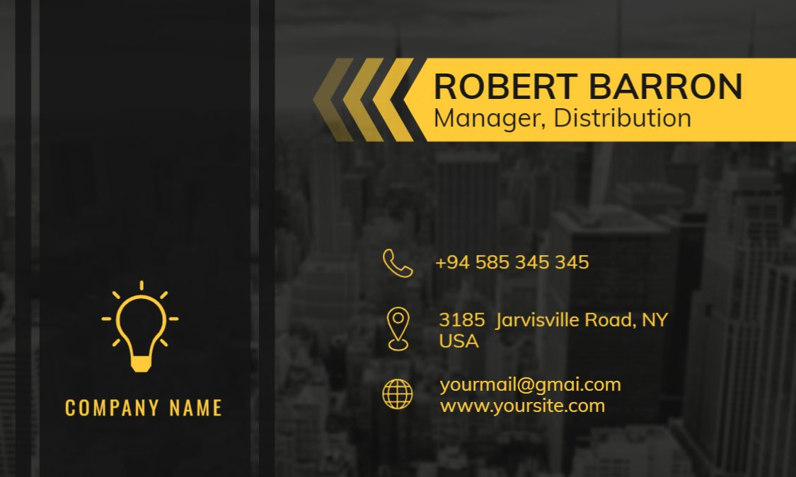 City Background Themed Business Card Front