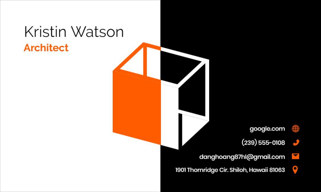 Business Card Design - Backside