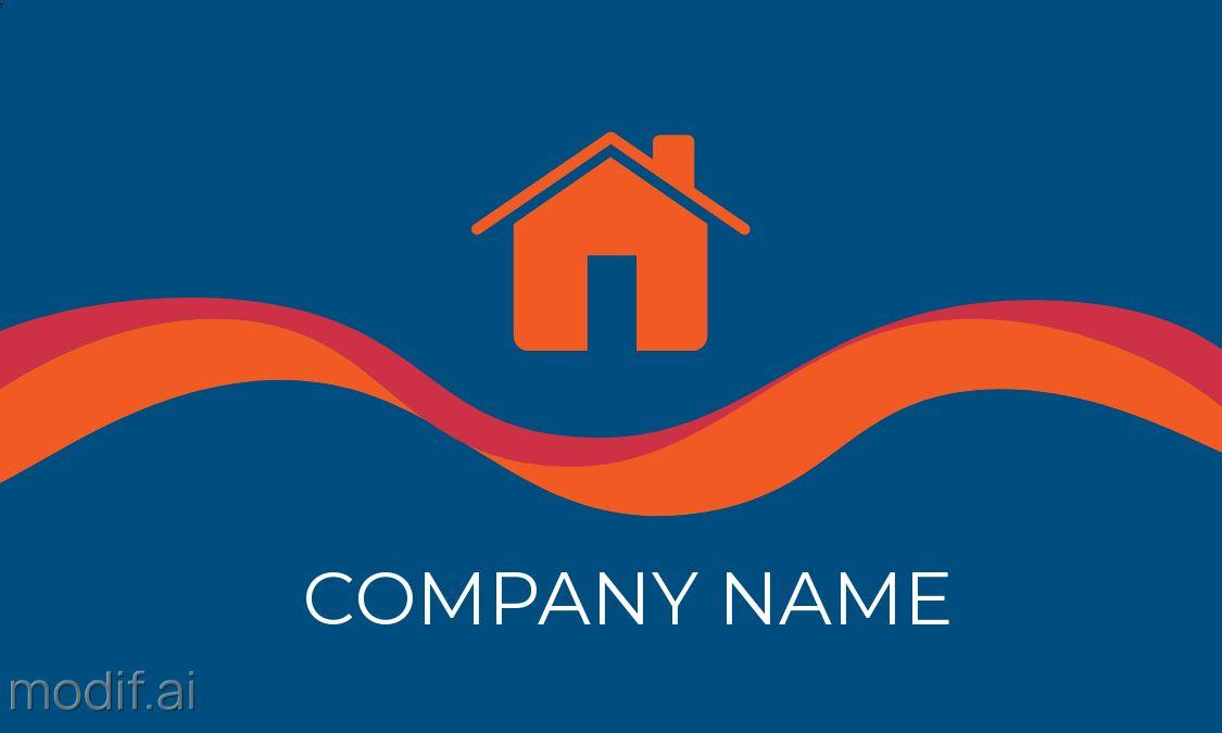 Real Estate Themed Business Card Design Back