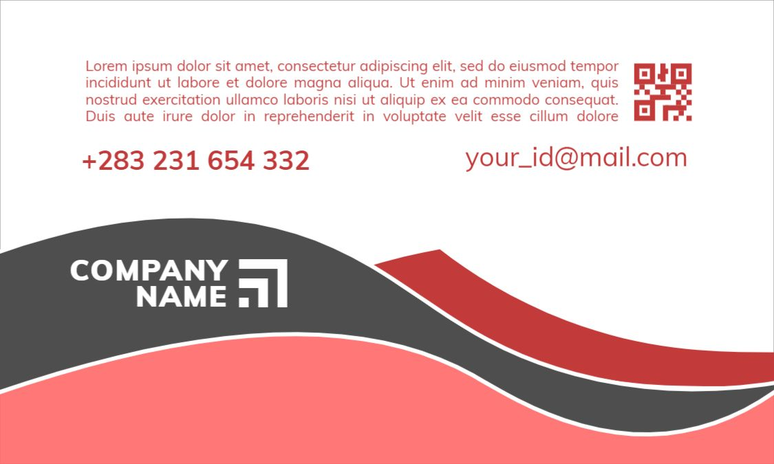 Distribution Themed Business Card Design Front