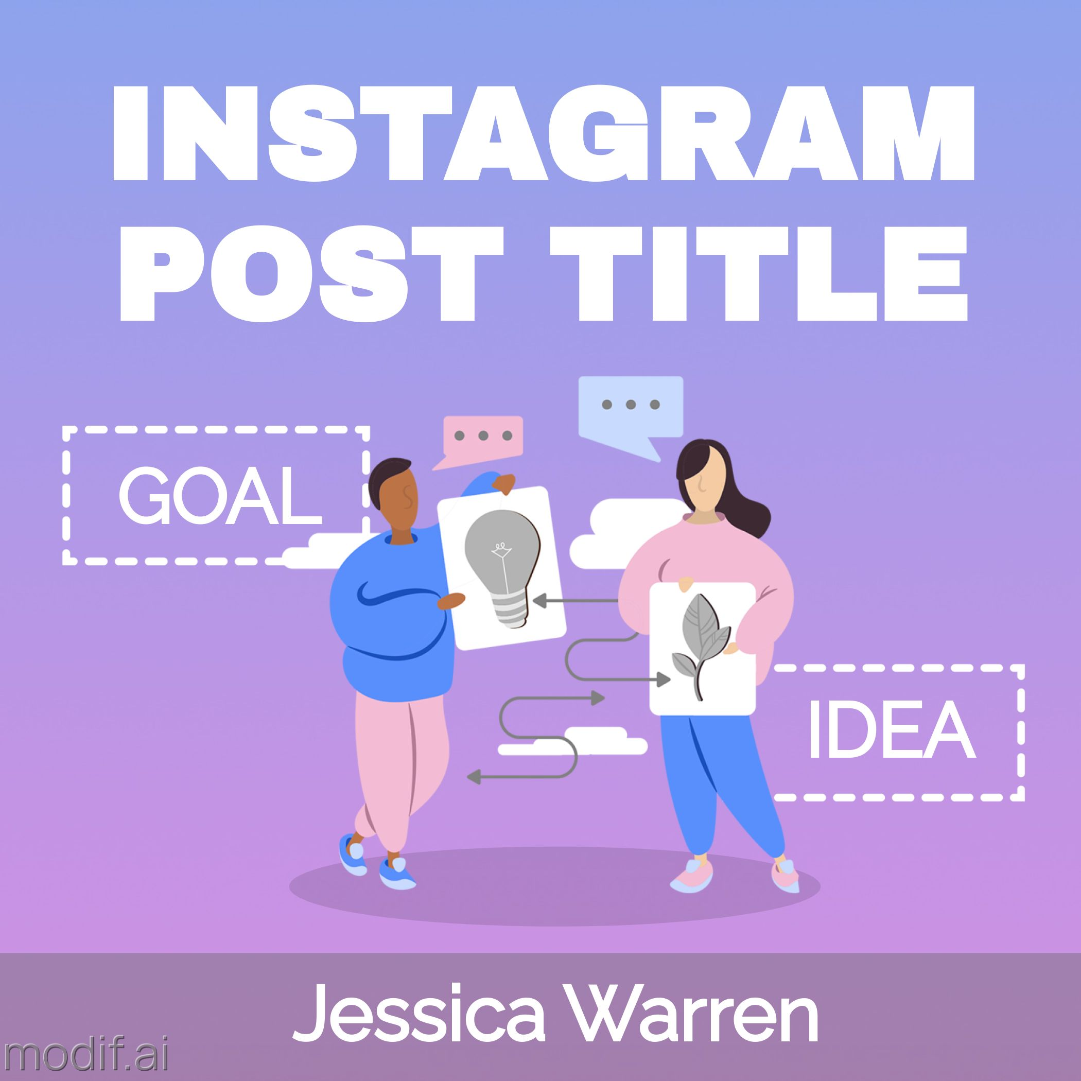 Idea Promotion Instagram Post Template