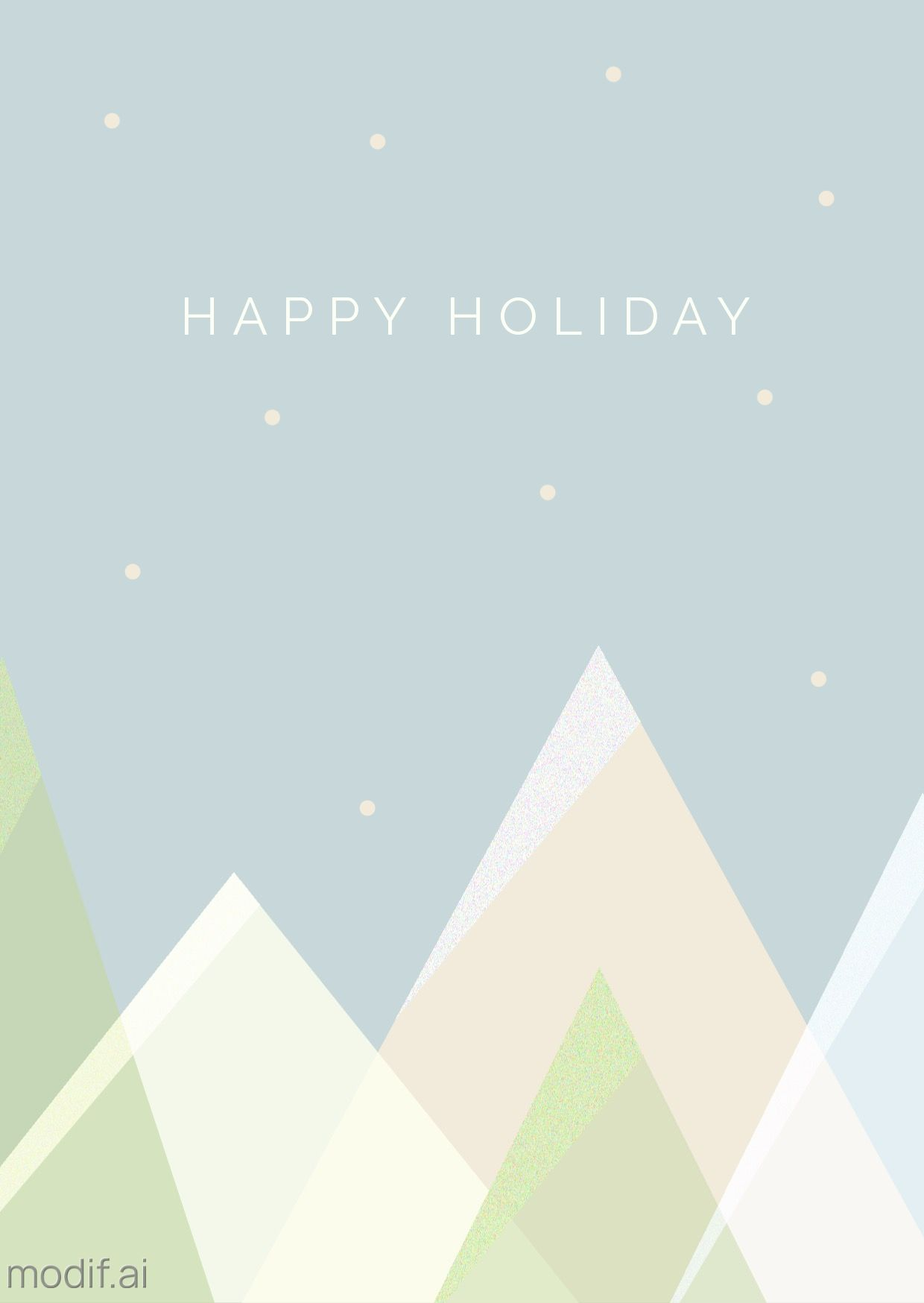 Winter holiday Greeting Card Template