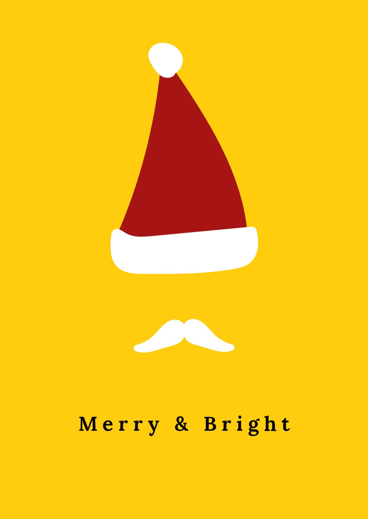 Minimalist Christmas Greeting Card Template