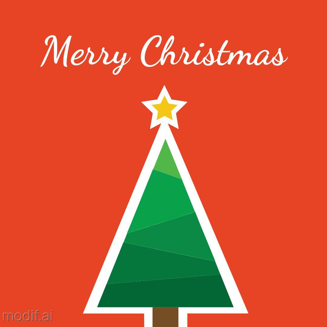 Minimal Design Christmas Greetings Template