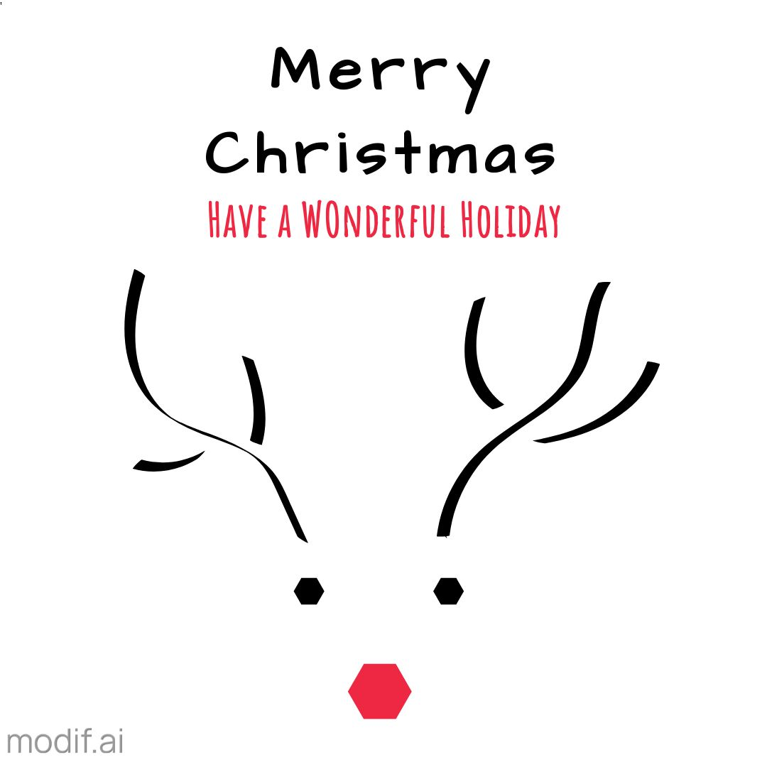 Reindeer Design Christmas Instagram Template