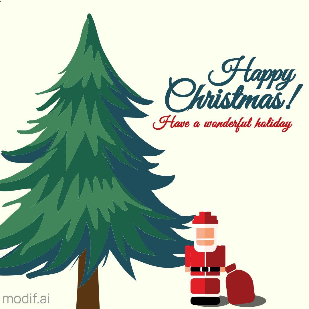 Christmas Tree Greetings Instagram Template