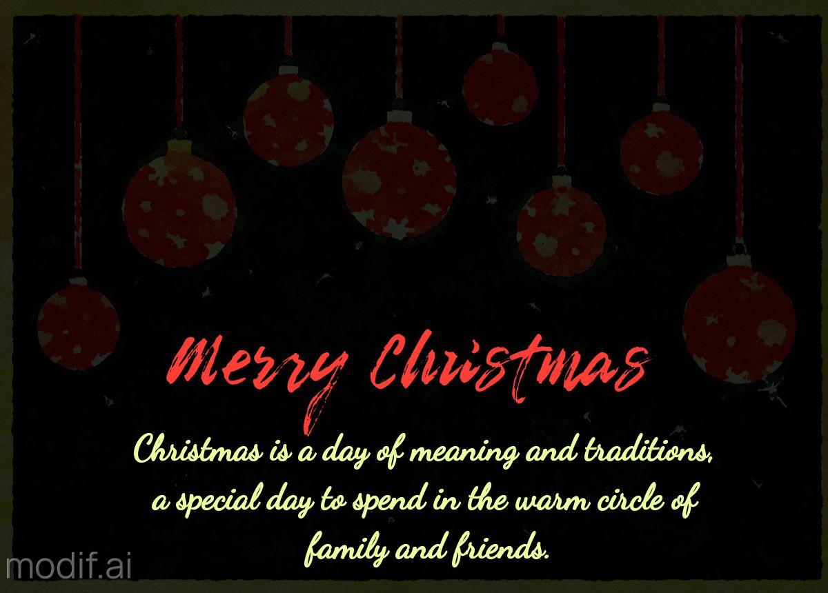 Watercolor Christmas Gift Greetings Card Template