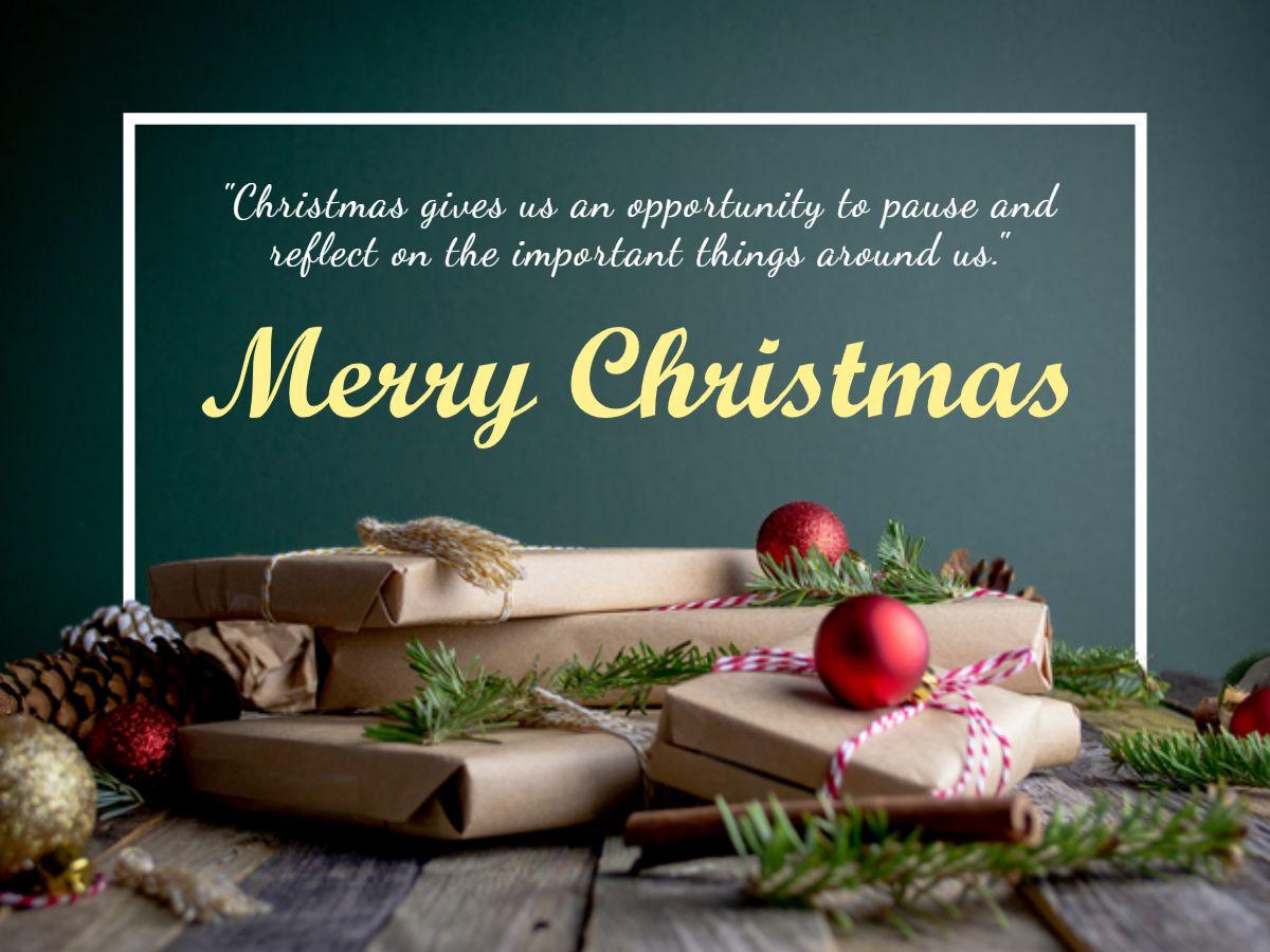Christmas Gift Greetings Card Template
