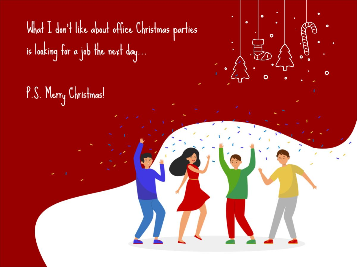Funny Christmas Quote Facebook post