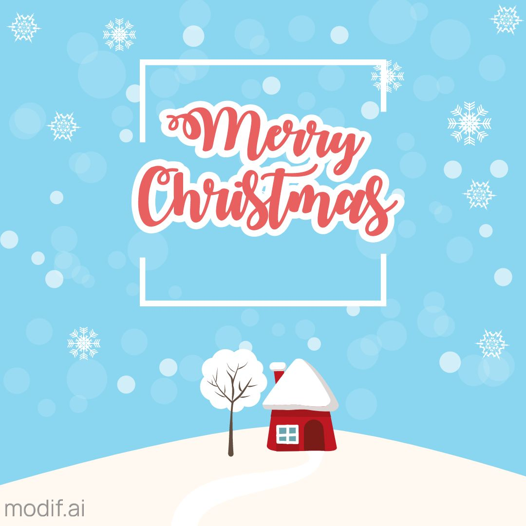 Red House Christmas Greetings Template