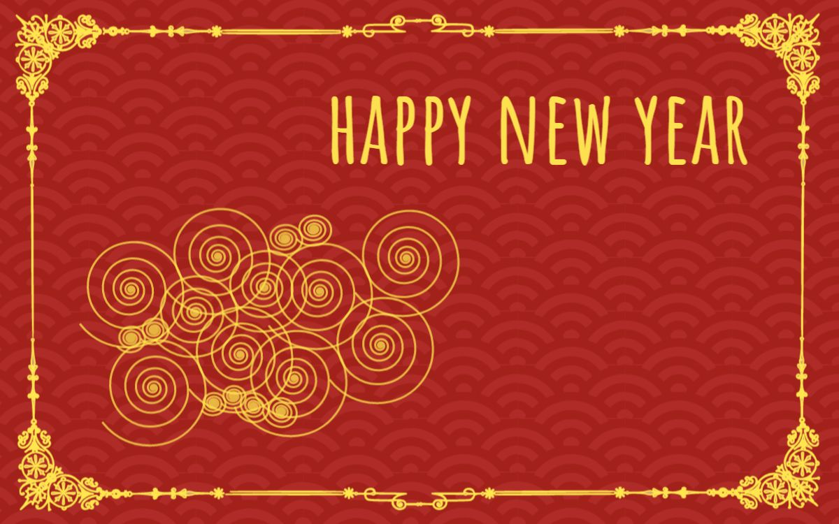 New Year Themed Greetings Template