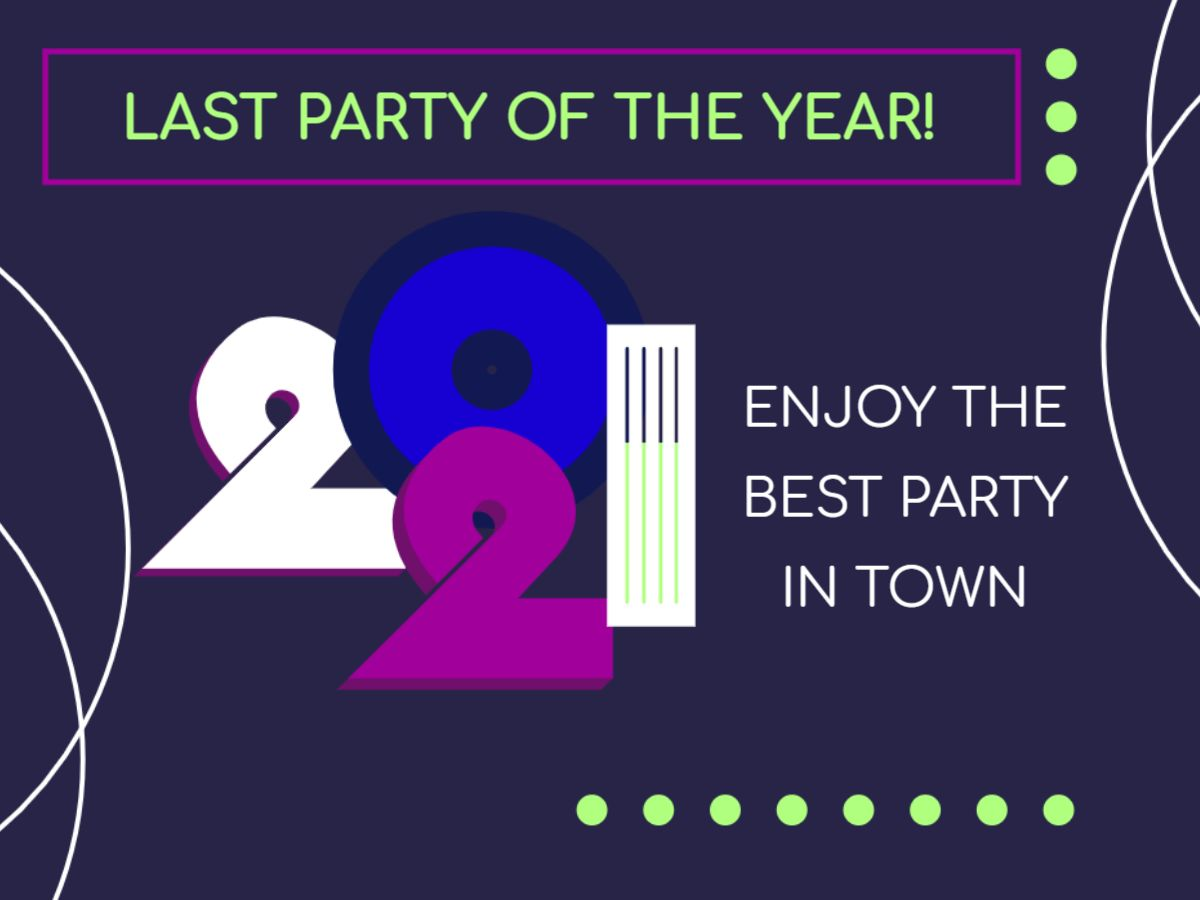 New Year Party Facebook Post Template