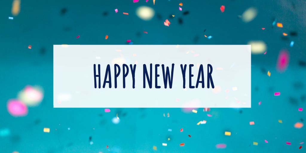 New Year Greeting Twitter Post Template