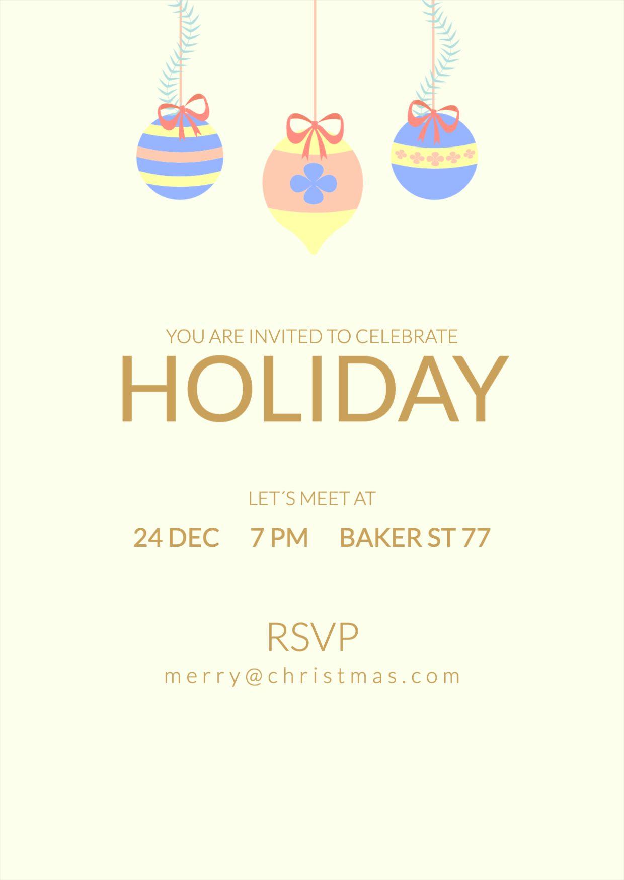 Holidays Invitation Christmas Card Template