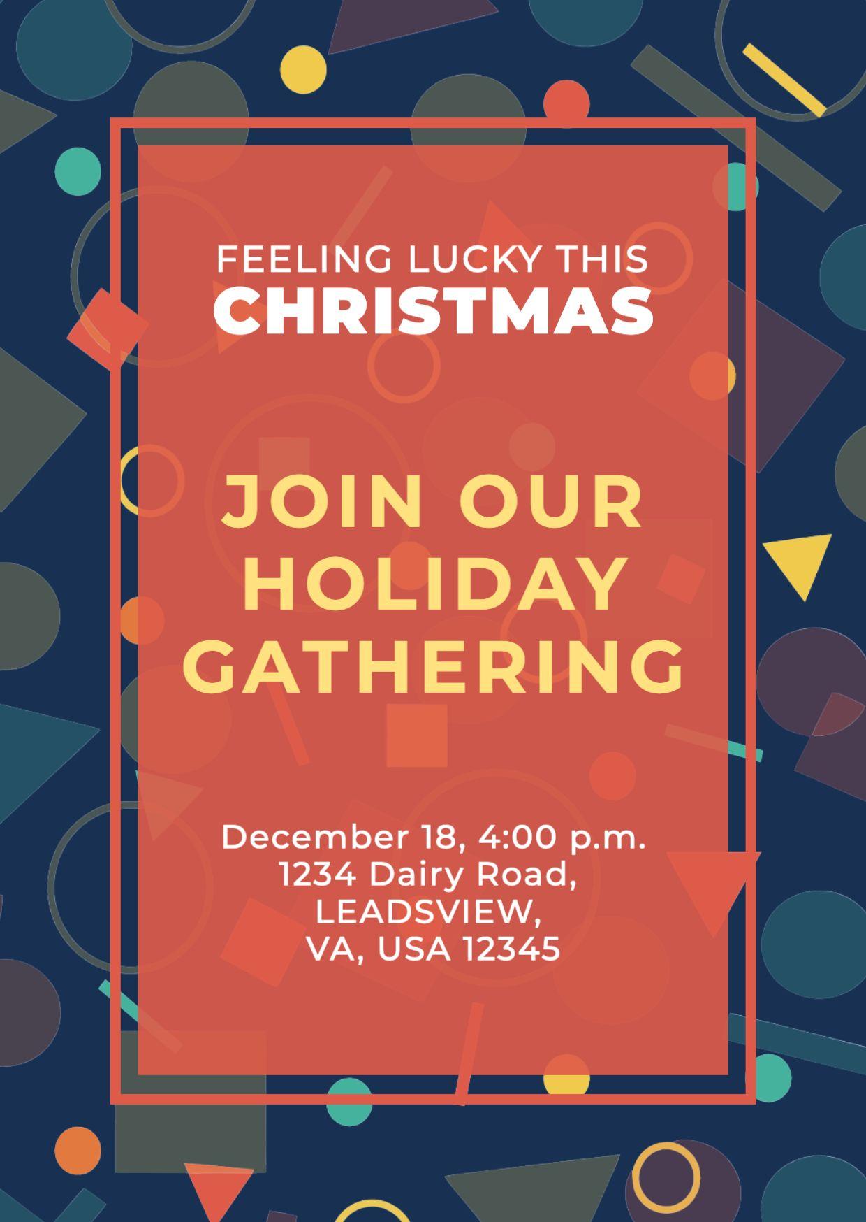 Christmas Greetings Invitation Template