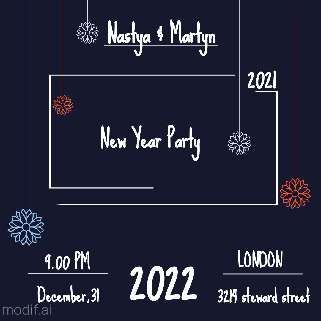 Template for Christmas Invitation Card