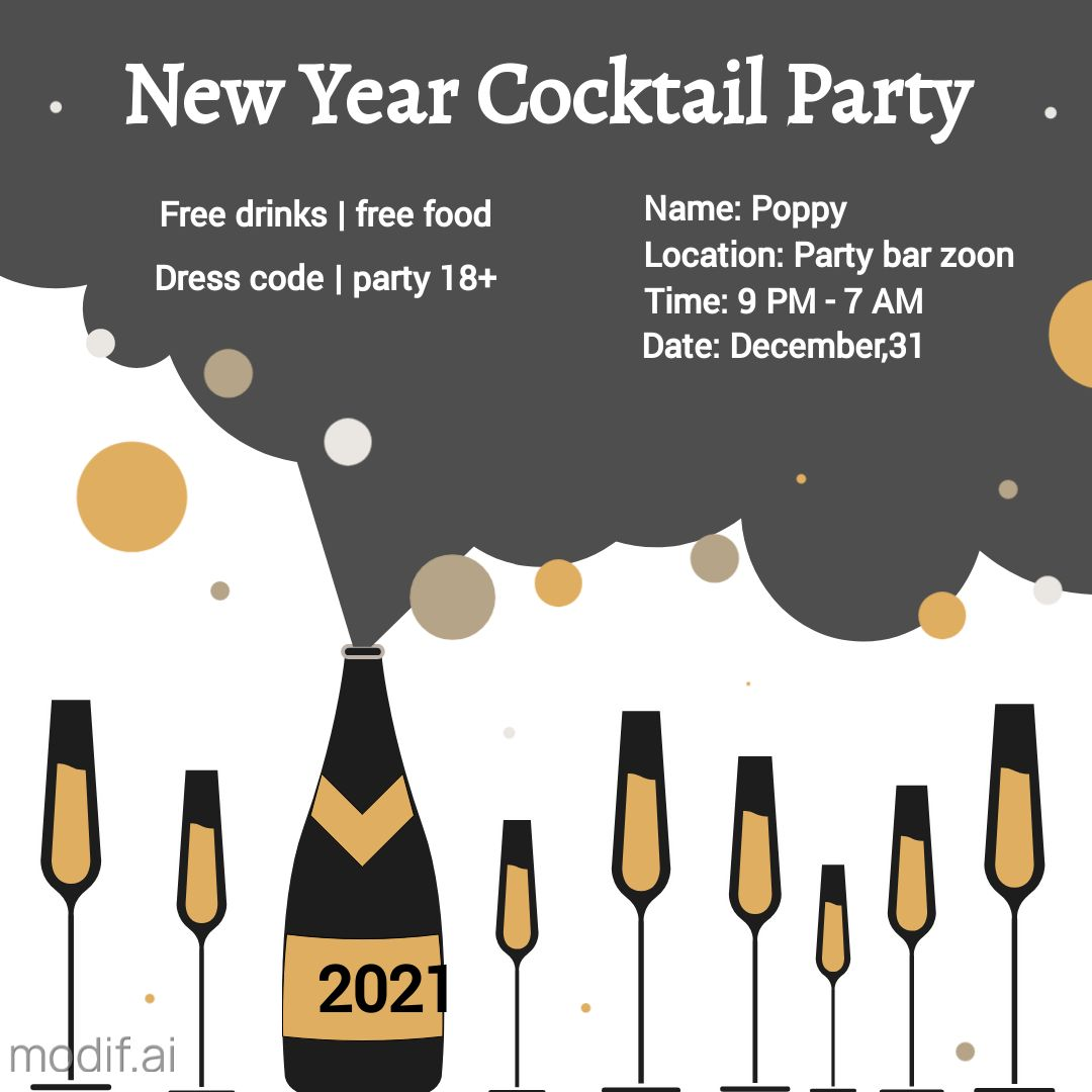 Christmas Cocktail Party Template