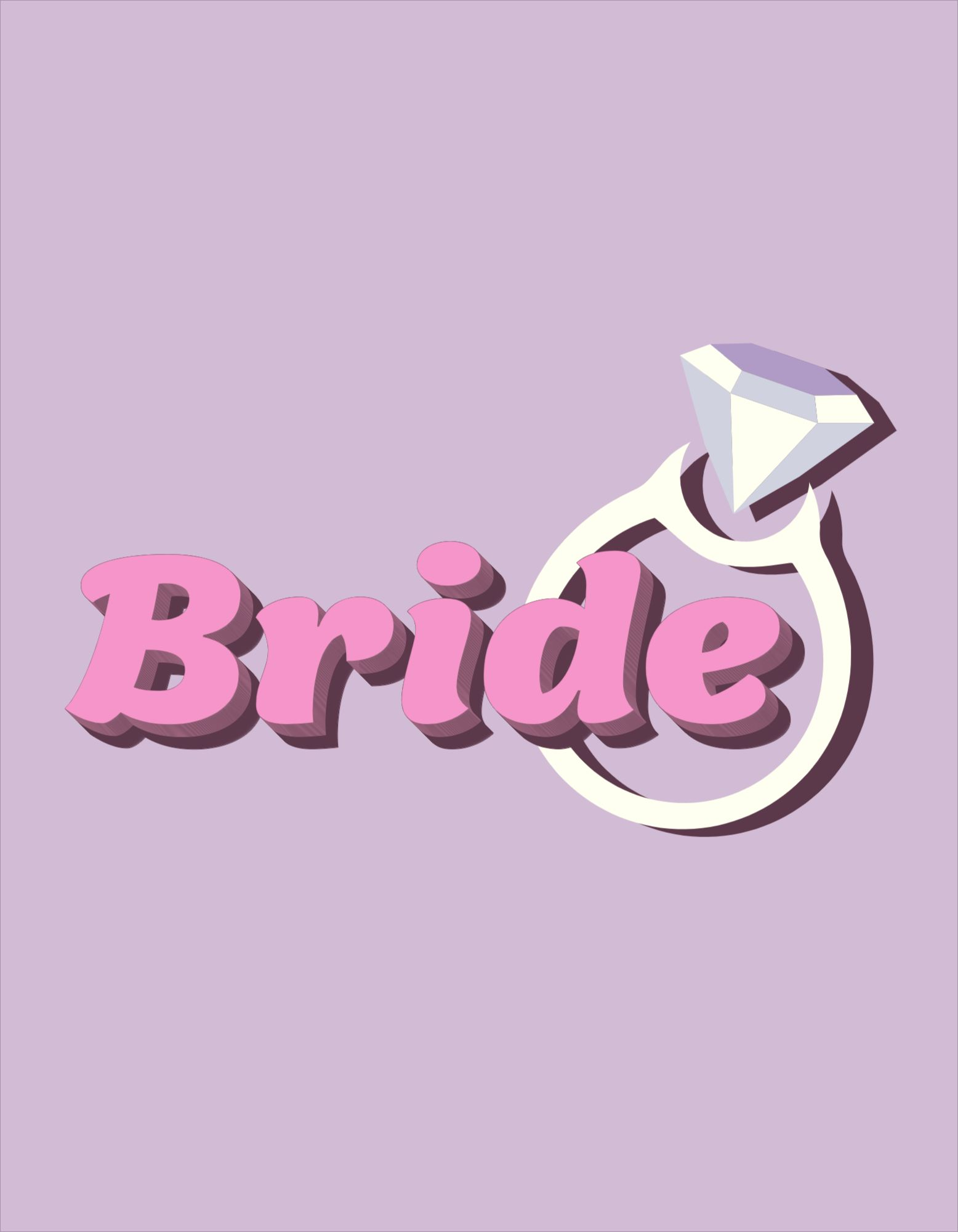 Bachelorette Bride T-Shirt Design Template