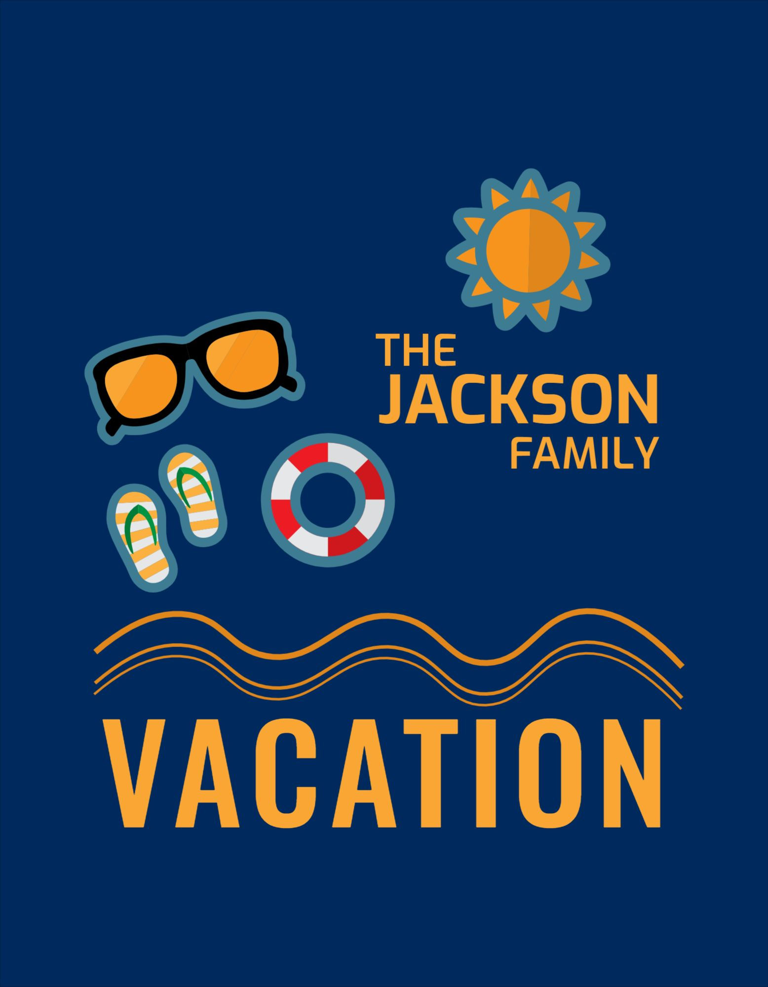 Family Vacation T-Shirt Design Template