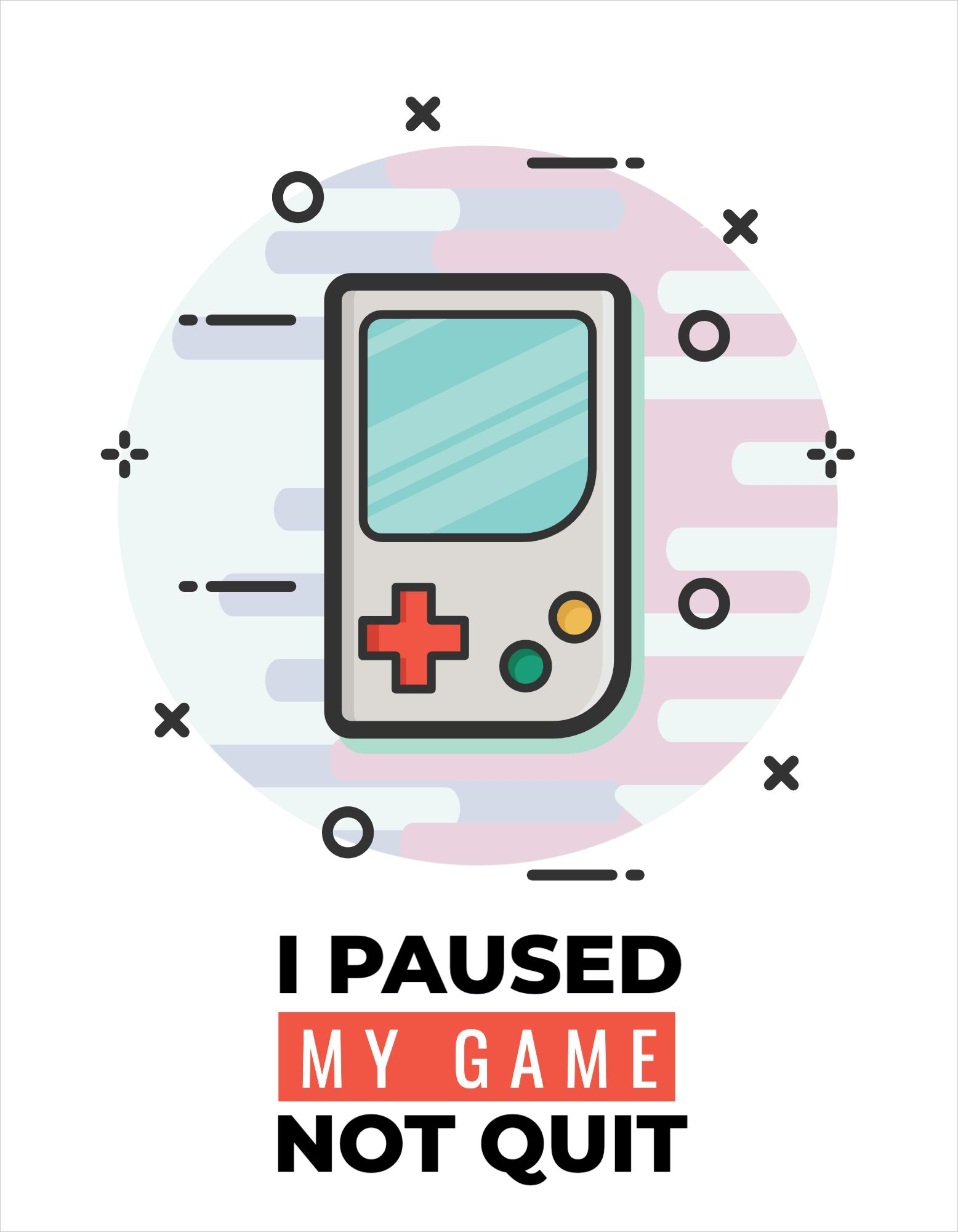 Gaming Themed T-Shirt Design Template