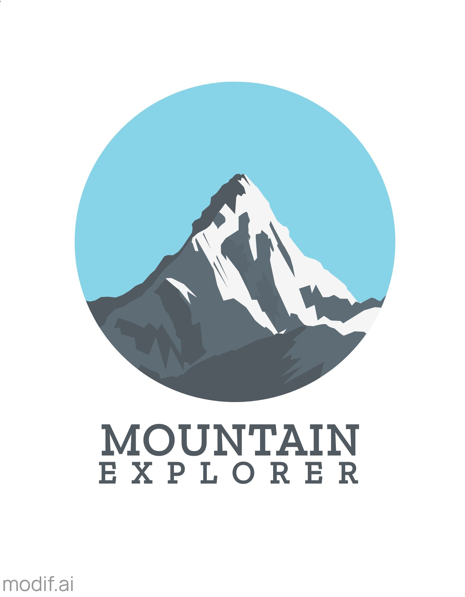 Mountain Exploration T-Shirt Design Template