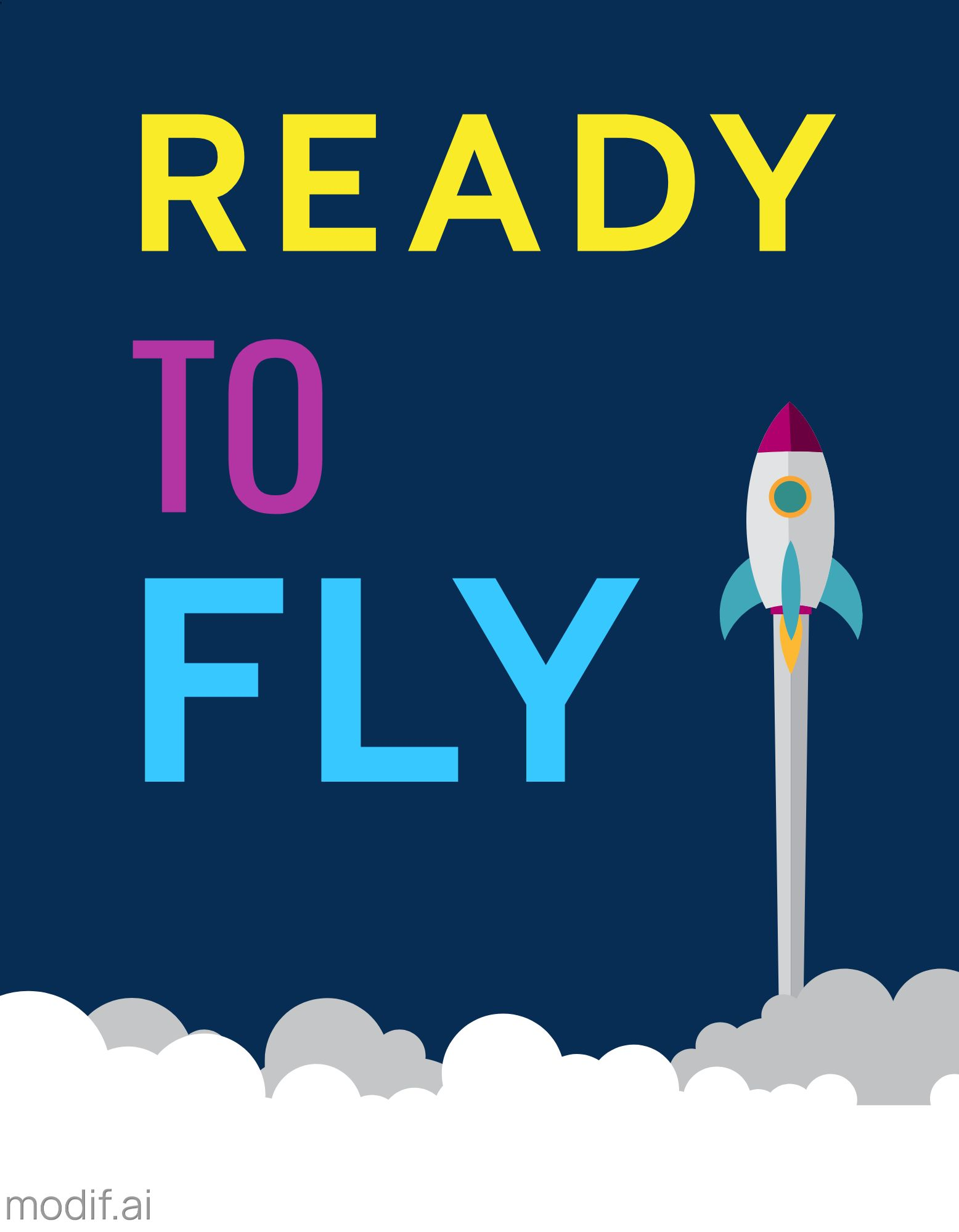 Ready to Fly T-Shirt Design Template