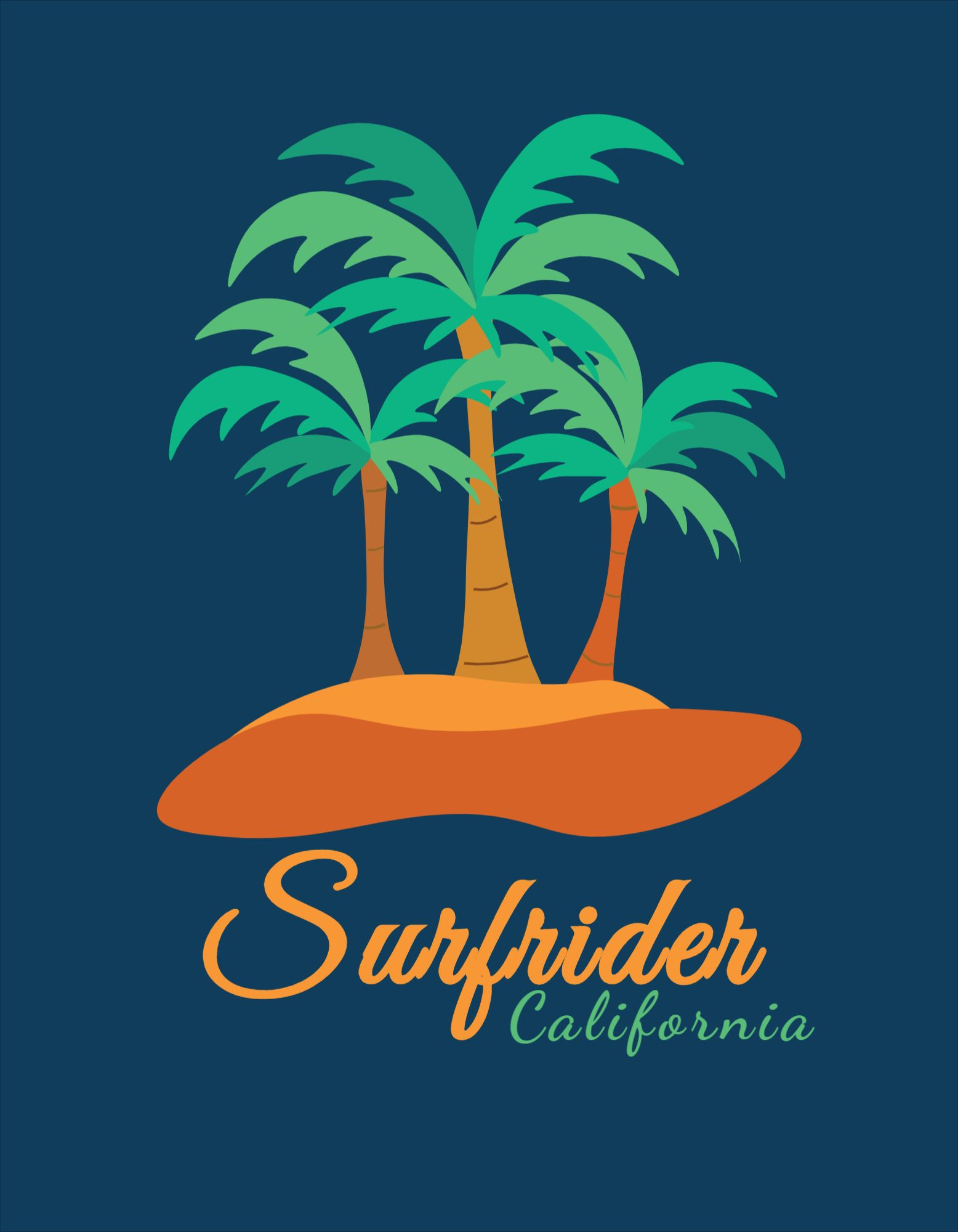 Coconut Tree T-Shirt Design Template