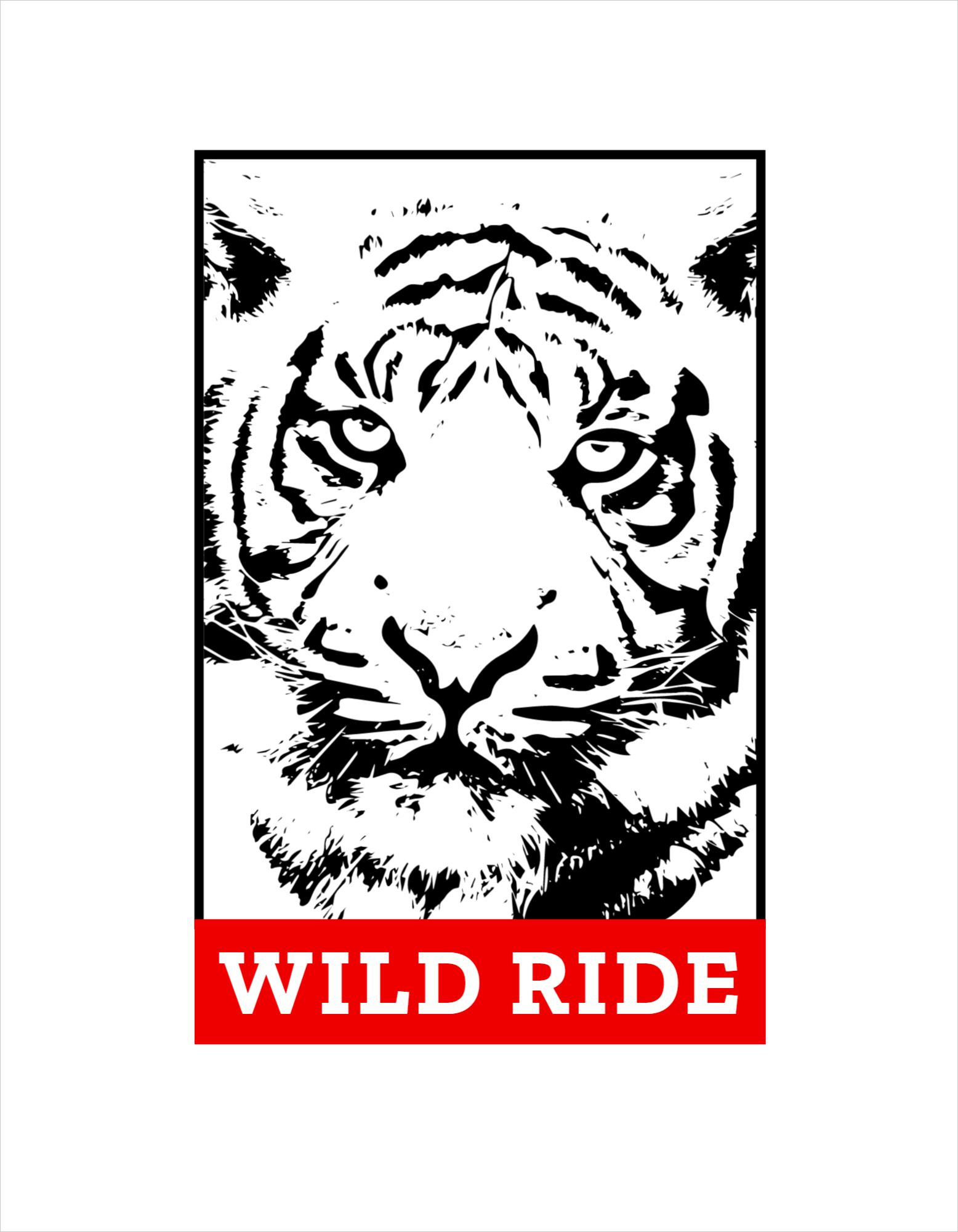 Tiger Themed T-Shirt Design Template