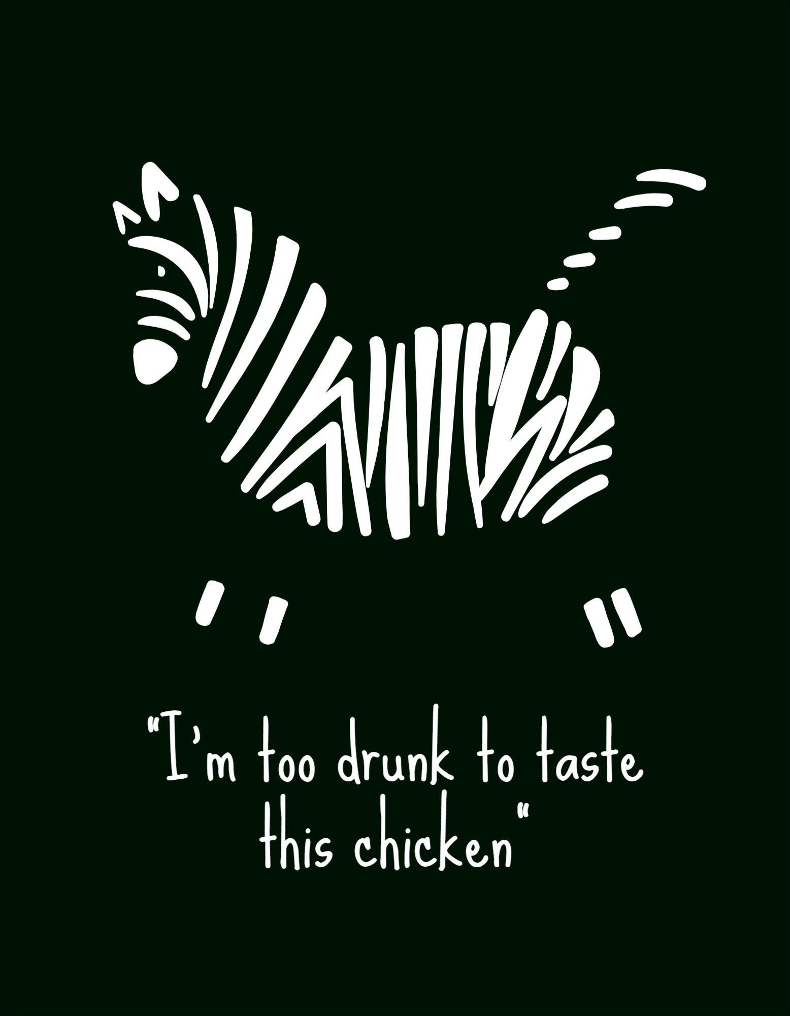 Funny Zebra T-Shirt Design Template