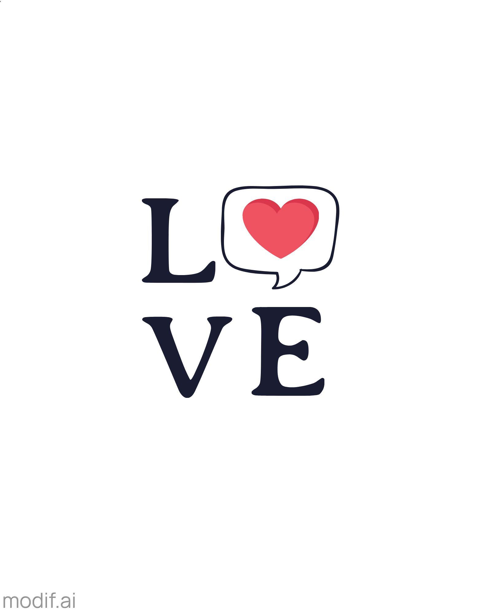 Love Print T-shirt