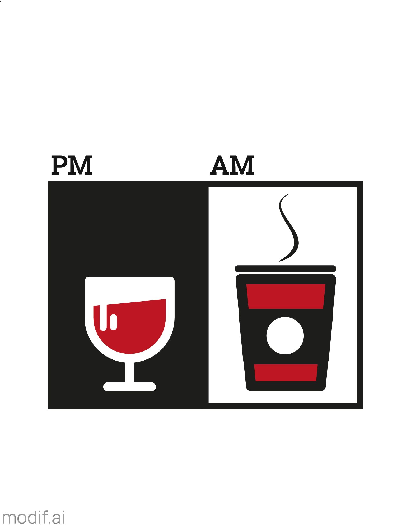 Coffee and Wine T-shirt Design