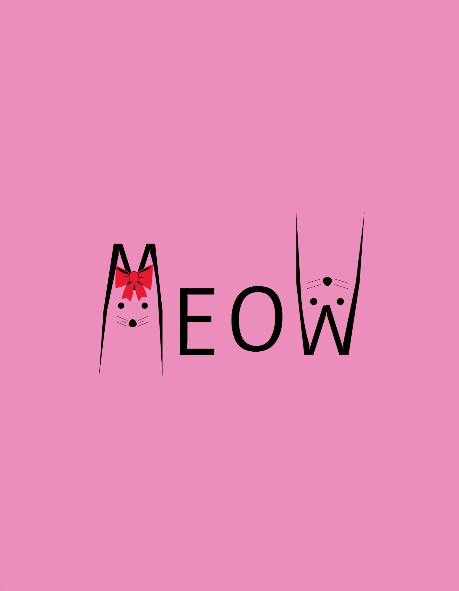 Meow Template T-shirt Design