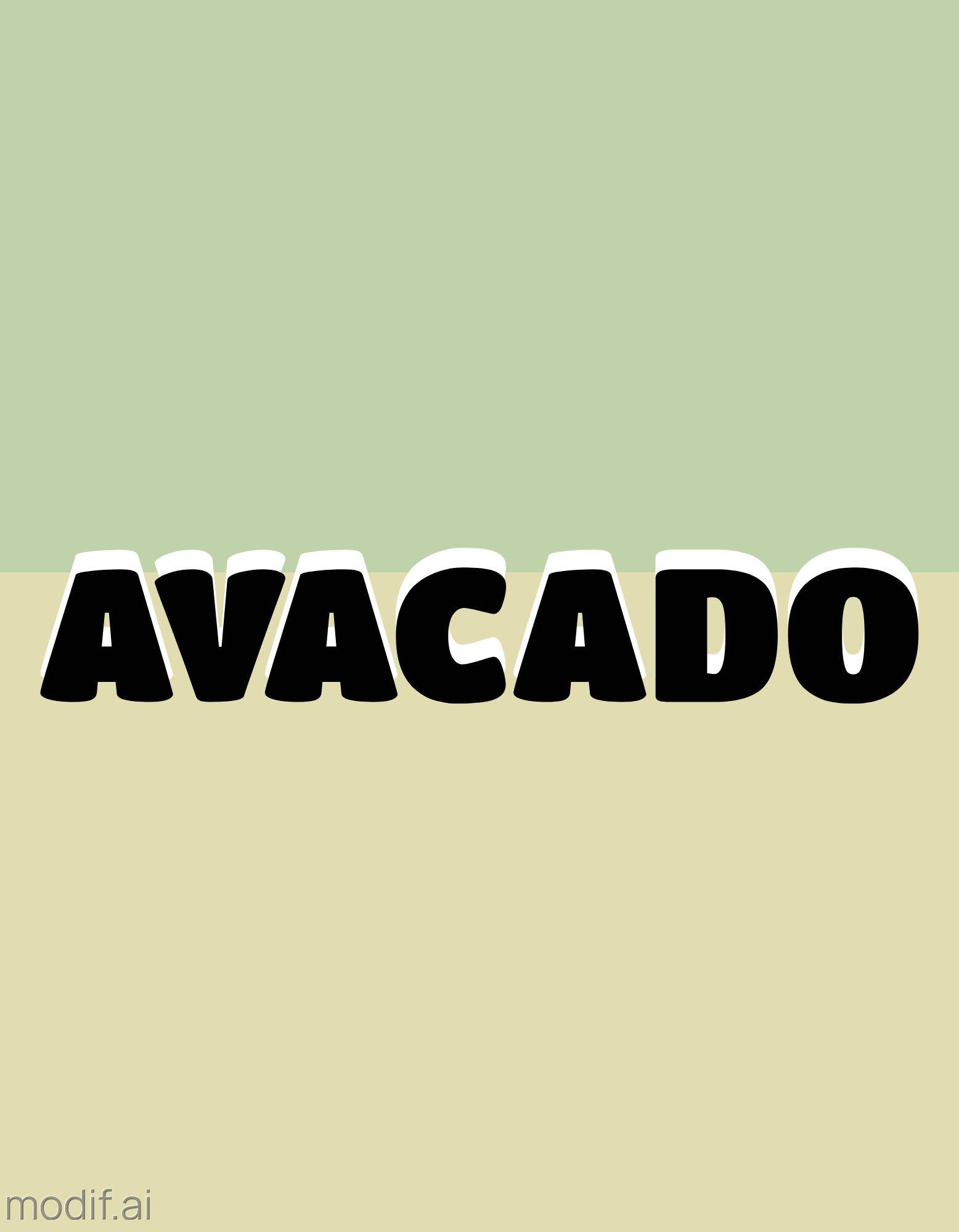 Avocado Colors T-Shirt Design