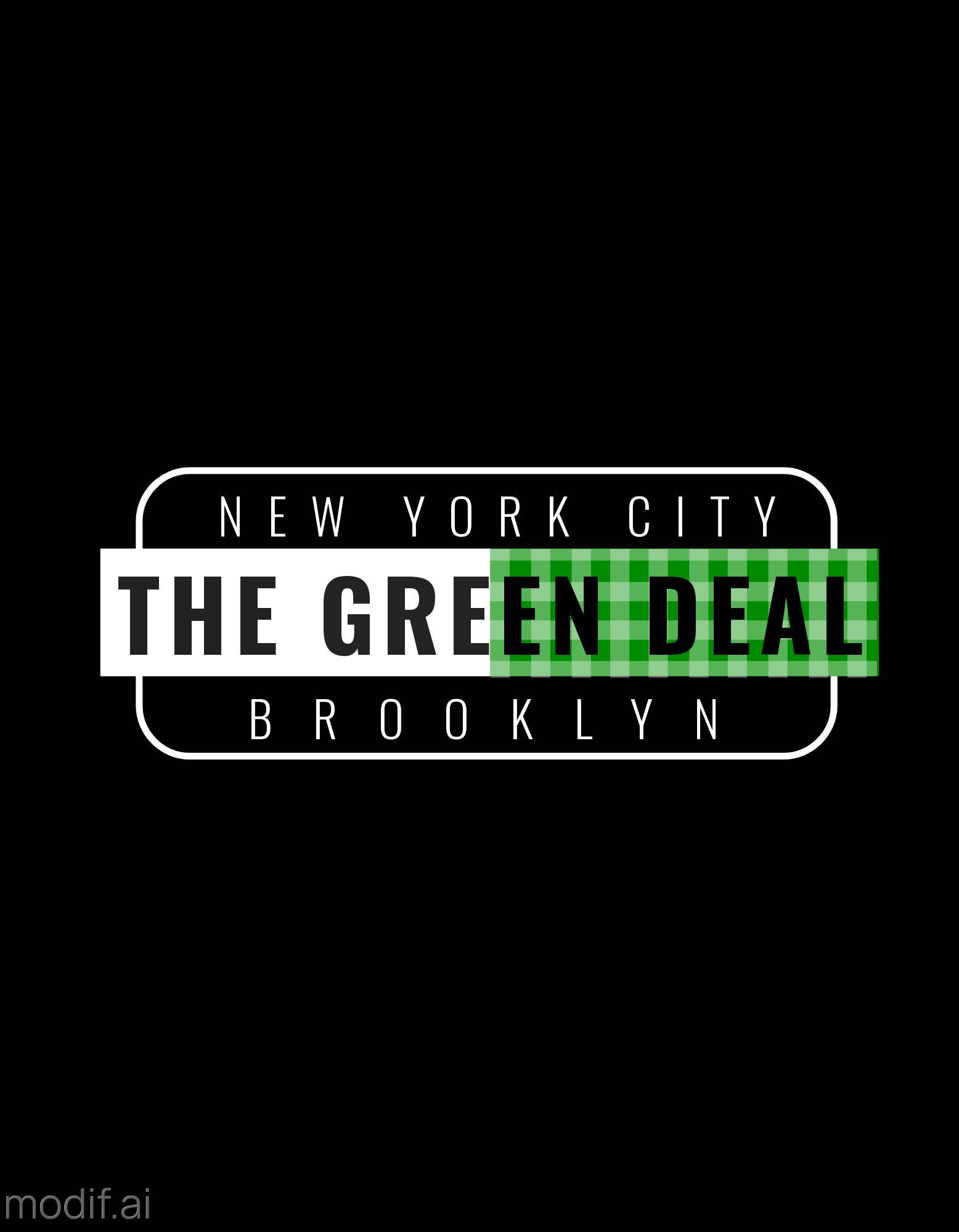 Green Deal T-Shirt Design Template